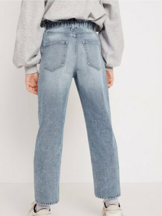 High waist jeans with removable belt